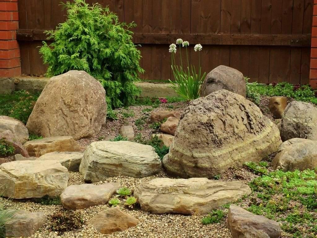 Камни для ландшафтного дизайна своими руками